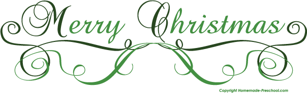 free clipart merry christmas text - photo #35