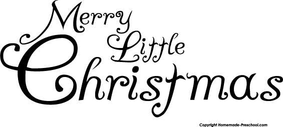 Download Marry Christmas Clipart Black And White