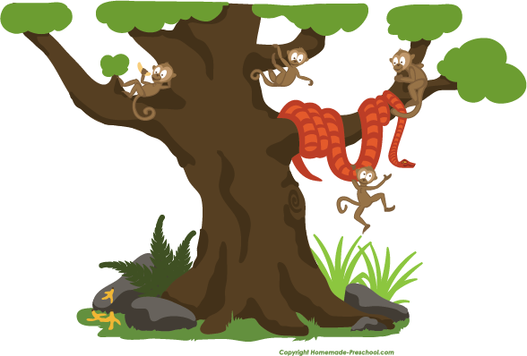 Monkey In A Tree Clipart Free monkey clipart