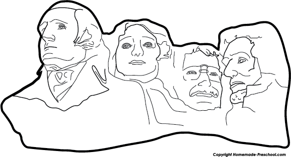 patriotic coloring pages mount rushmore - photo#1