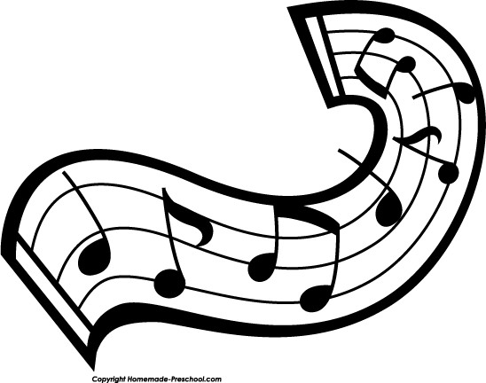 music instruments clipart black and white - photo #43