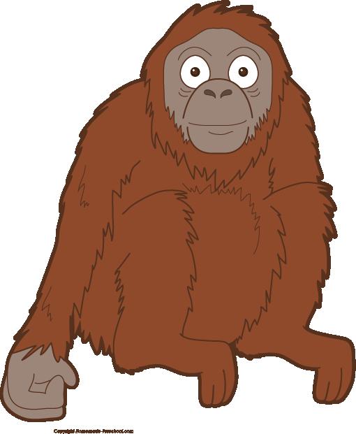 free monkey clipart orangutan clipart png orangutan clipart png