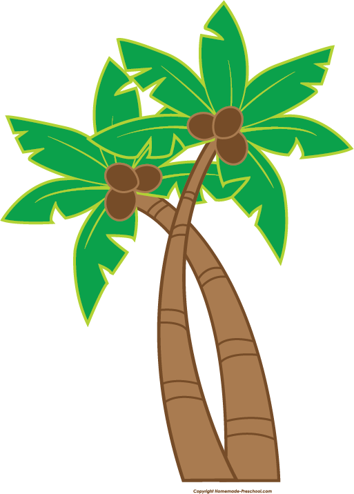 Palm tree luau. Free clipart