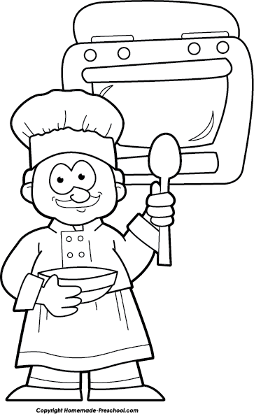Baker Clipart Black And White Free nursery rhymes clipart