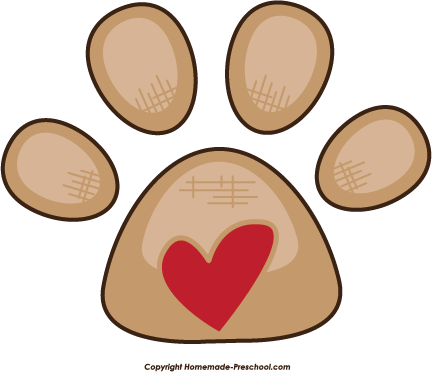 free paw prints clipart rh homemade preschool com paw print clip art free images paw print clip art free images