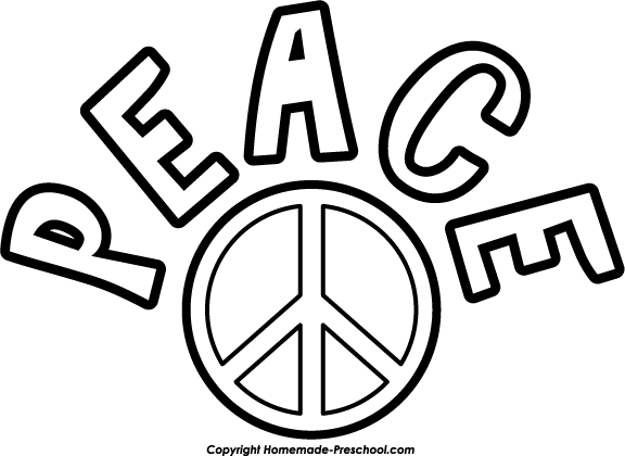 Clip Art Peace Clipart free peace sign clipart click to save image