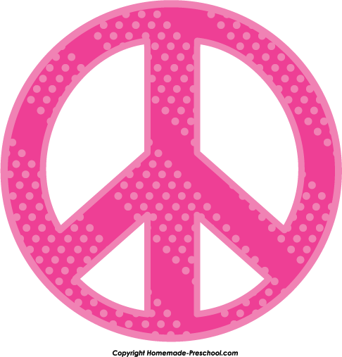 Pink Peace Sign Clip Art