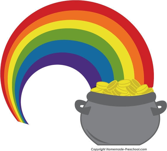 free irish clipart rainbow pot of gold clipart black and white rainbow and pot of gold clipart clipart