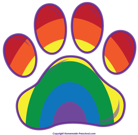 Image result for colorful paw print free