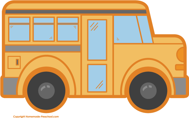 school bus clipart rh homemade preschool com Wagon Wheel Clip Art School Bus On Road Clip Art
