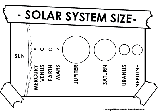 solar system black and white clipart - photo #35