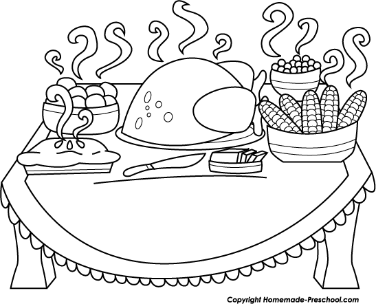 Thanksgiving turkey dinner drawing - photo#12