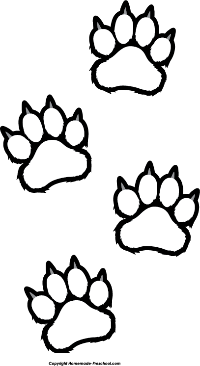 Free Paw Prints Clipart Paw Print Coloring Pages