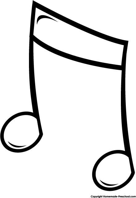 free music notes clipart rh homemade preschool com musical instruments clipart black and white music clipart black and white free