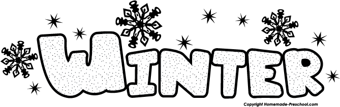 Winter Clipart Black And White