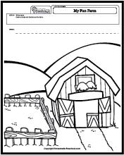 Worksheet: Farm Animals - Follow the Pattern (preschool/primary ...