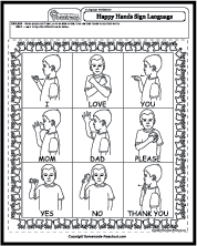 Worksheet Sign Language Words And Phrases Worksheets happy hands sign language