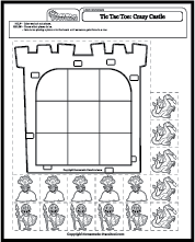 tic tac toe castle click to download worksheet