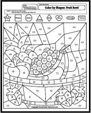 Color by Shapes Coloring Pages