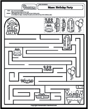 Birthday Party Maze