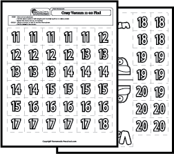 Math Worksheets Number Recognition