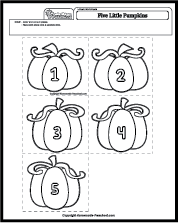 photograph about Five Little Pumpkins Printable named 5 Minor Pumpkins