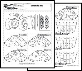Math worksheets matching - Muffins fur kindergarten ...