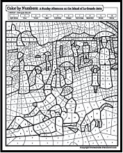 coloring pages of famous paintings - famous paintings coloring