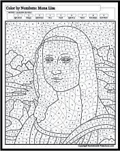 Color By Numbers Mona Lisa