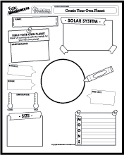 Free Printable Stars and Planets Space Worksheet for Kindergarten