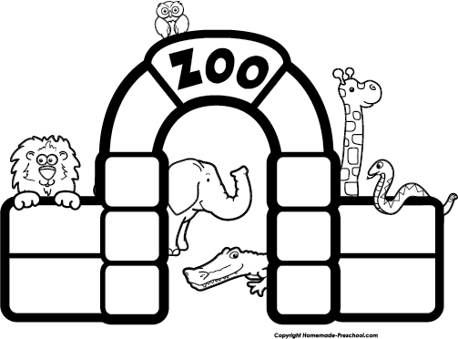 Zoo Clipart Black And White
